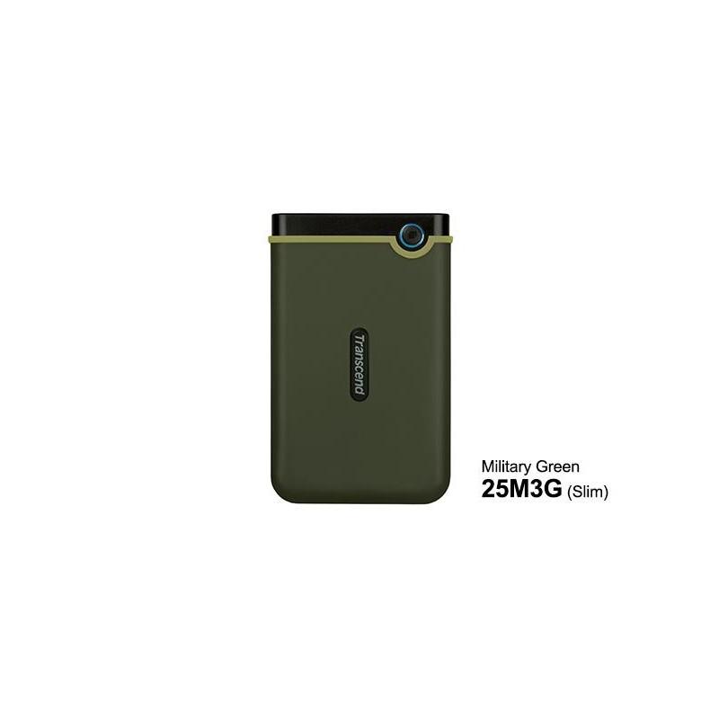HDD Transcend StoreJet 2.5 USB 3.0 1TB M3G Military Green Slim