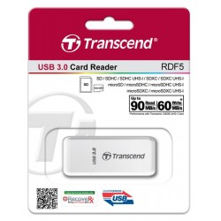 Кардридер Transcend USB 3.0, белый