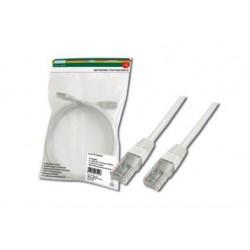 Патч-корд DIGITUS CAT 5e UTP, 0.5м, AWG 26/7, PVC, белый
