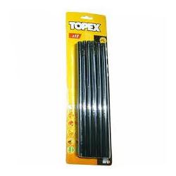 Стержни TOPEX клеевые 11 мм, 12 шт., Черные (42E173)