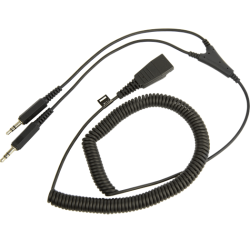 Кабель Jabra PC cord - QD to 2x3.5mm 2m витой (8734-599)