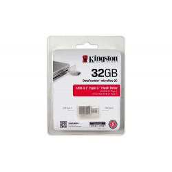 Накопитель Kingston 32GB USB 3.1 Type-C DT Micro Metal Silver