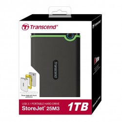 HDD Transcend StoreJet 2.5 USB 3.0 1TB Iron Gray Slim.