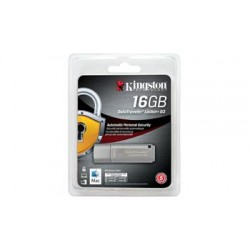 Накопитель Kingston 16GB USB 3.0 DT Locker+ G3 Metal Silver