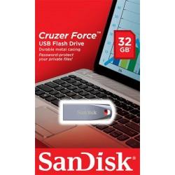 Накопитель SanDisk 32GB USB Cruzer Force Metal Silver