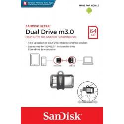 Накопитель SanDisk 64GB USB 3.0 Ultra Dual Drive m3.0 OTG
