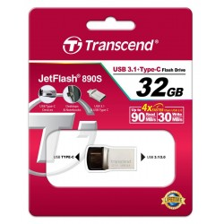 Накопитель Transcend 32GB USB 3.1+Type-C 890 R90/W30MB/s