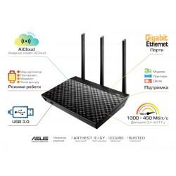 Интернет-шлюз ASUS RT-AC66U/B1 802.11ac AC1750 1x1G WAN, 4x1G