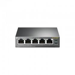 Коммутатор TP-LINK TL-SG1005P 5x1GE/4xPoE 56W, Неуправляемый