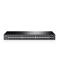 Коммутатор TP-LINK T2600G-52TS (TL-SG3452) 52x1GE, 4x1GE/SFP