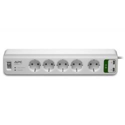 Фильтр APC Essential SurgeArrest 5 розеток + 2 USB (5V, 2.4A)
