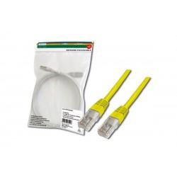 Патч-корд DIGITUS CAT 5e UTP, 0.5м, AWG 26/7, PVC, желтого цвета