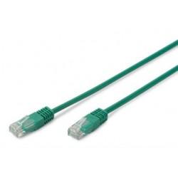 Патч-корд DIGITUS CAT 5e UTP, 0.5м, AWG 26/7, PVC, зеленый