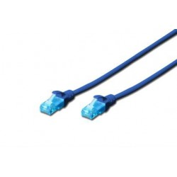 Патч-корд DIGITUS CCA CAT 5e UTP, 3м, AWG 26/7, PVC, синий