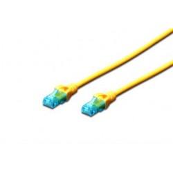 Патч-корд DIGITUS CCA CAT 5e UTP, 5м, AWG 26/7, PVC, желтый