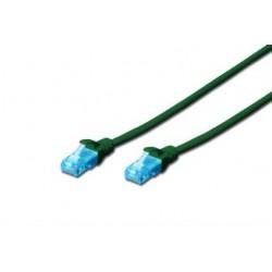 Патч-корд DIGITUS CCA CAT 5e UTP, 5м, AWG 26/7, PVC, зеленый