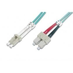 Оптический патч-корд DIGITUS LC/UPC-SC/UPC,50/125,OM3,duplex,1m