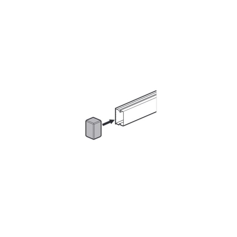 DLP-S Legrand кабель-канал 40x16мм, заглушка