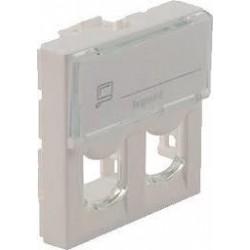MOSAIC Legrand лицевая панель 2хRJ45 коннектор Keystone (2мод)
