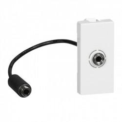 MOSAIC Legrand розетка аудио 3,5мм кабель 15см белый