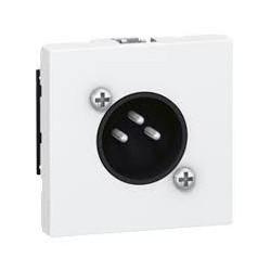 "MOSAIC Legrand розетка аудио XLR, 3-pin, ""папа"", 2 модуля, белая"