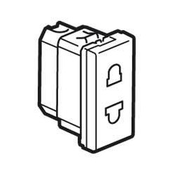 MOSAIC Legrand розетка електрическая со шторками (16А, 250В