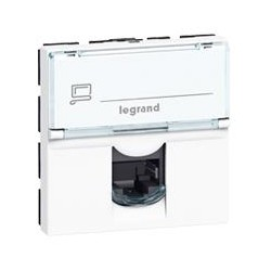 MOSAIC Legrand розетка информационная RJ45 UTP 5е (2 мод) белый