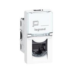 MOSAIC Legrand розетка информационная RJ45 UTP кат.6 (1 мод)