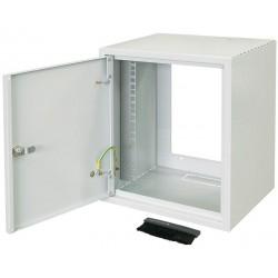 """Шкаф ZPAS 10"""" 7U, глубина 260мм. метал.дверь, серый"""