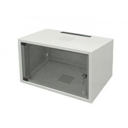 """Шкаф ZPAS 19"""" 6U 600x400, стекл.дверь, 20kg max, серый"""